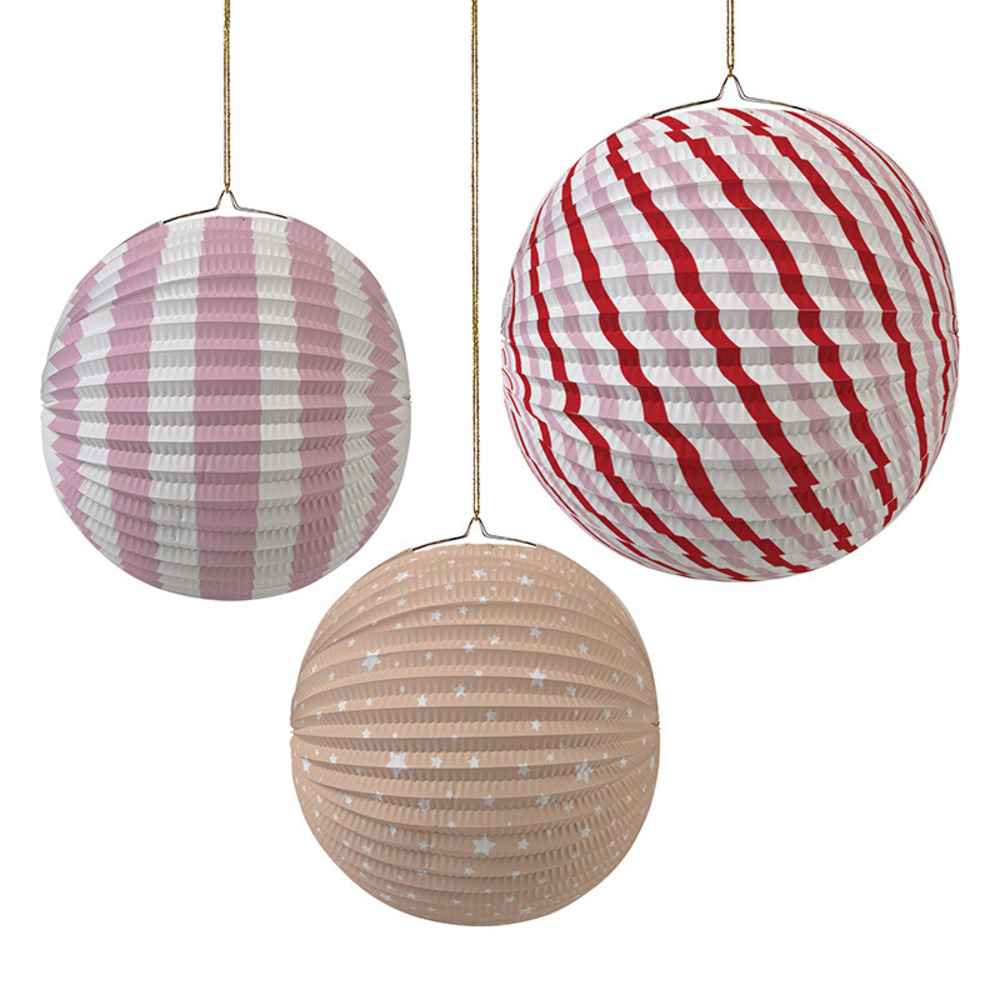 Paper Globe Pastel Pink Party Decorations