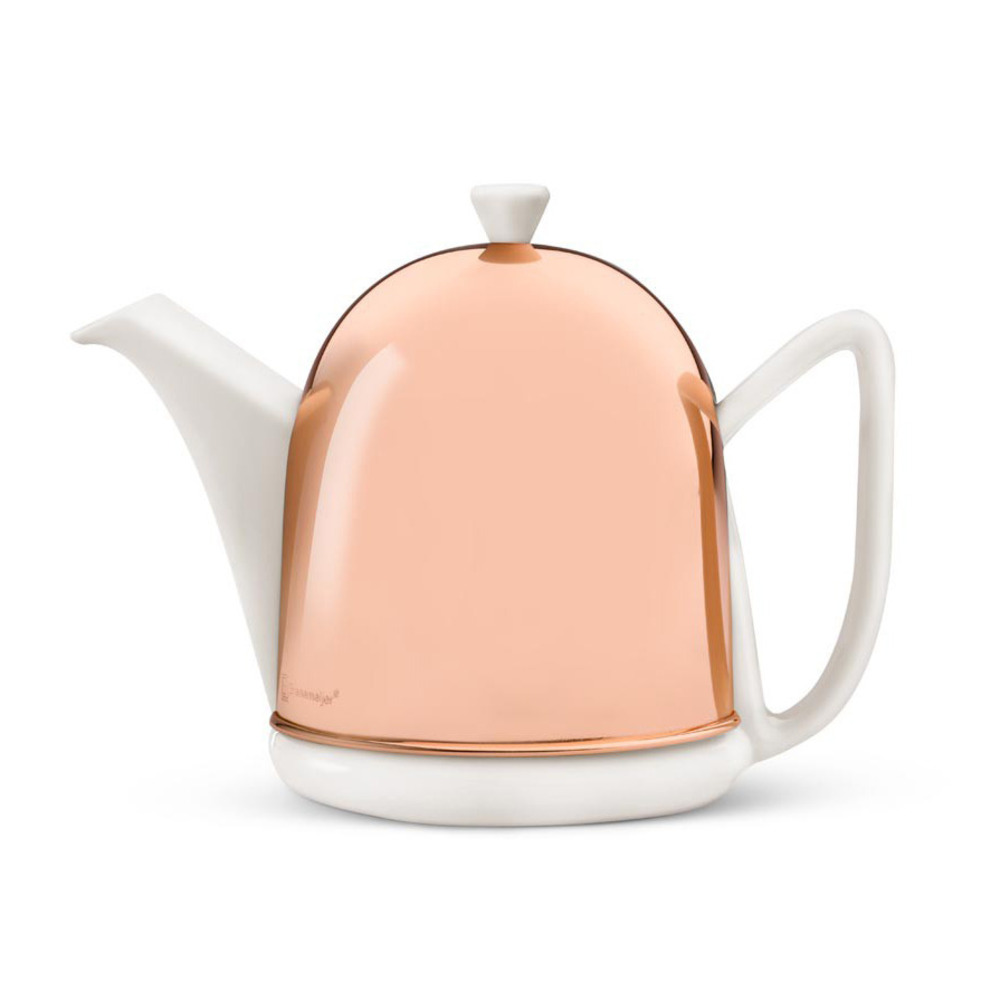 Teapot Manto 1,0L, white, copper casing