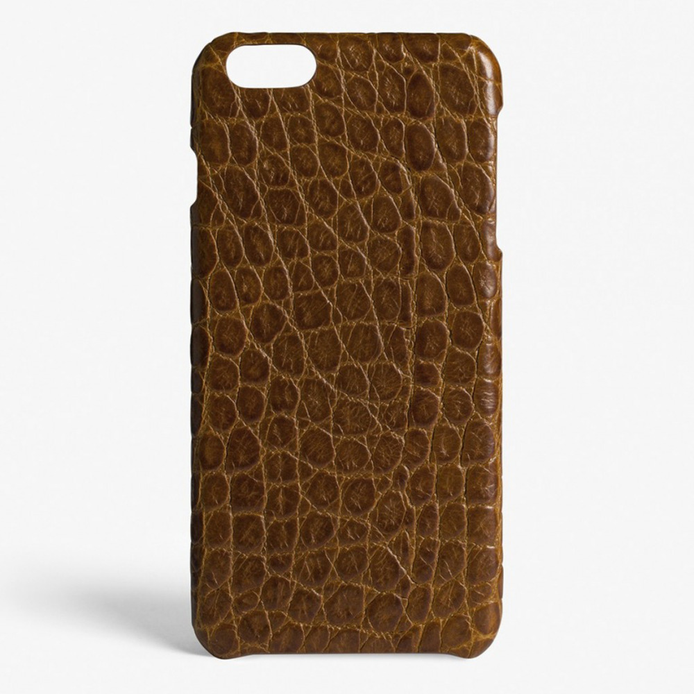 IPHONE 7 CROCODILE COGNAC