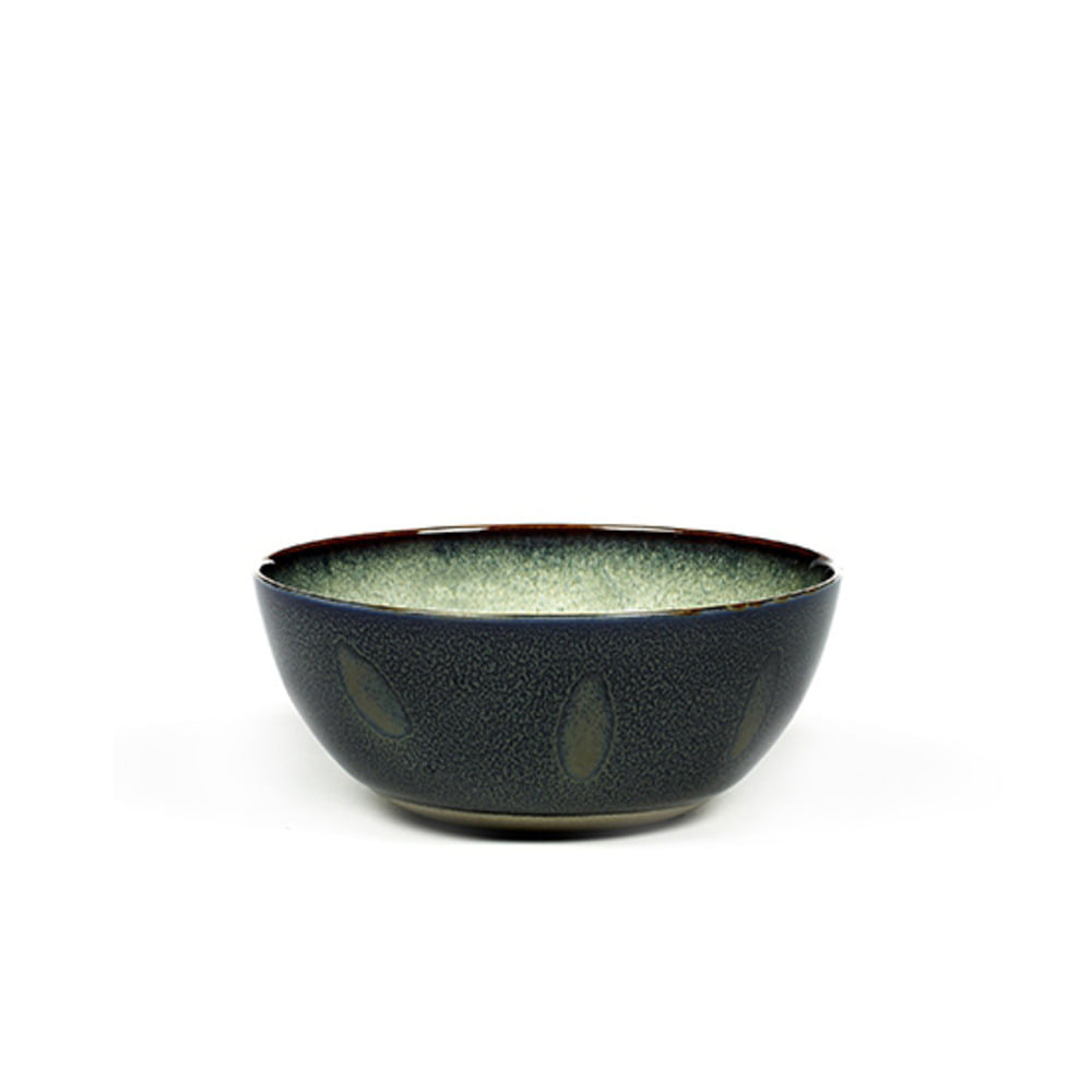 BOWL M D13,7 H6 MISTY GREY / DARK BLUE