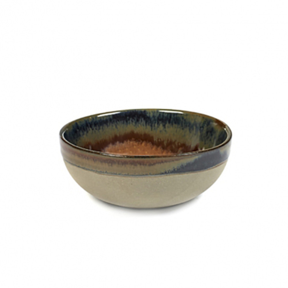 BOWL M SURFACE D11 H4,5 GREY/RUSTY BROWN