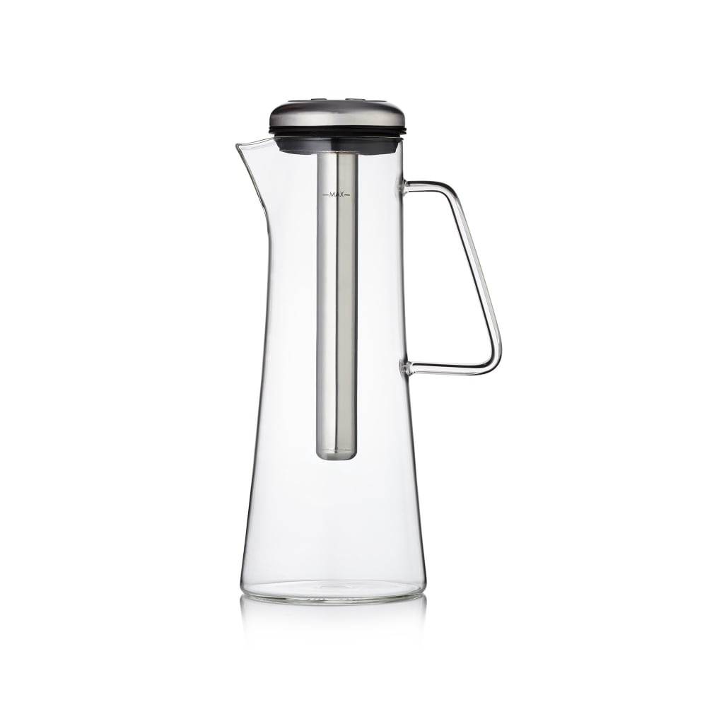 Glass Ice Bar Coffee Jug - Electric Steel