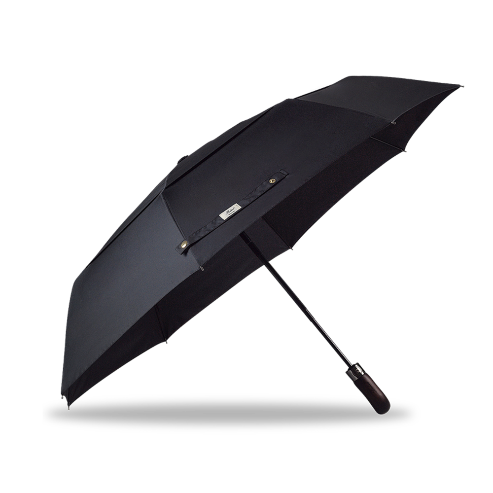 Auto Open & Close Double Canopy Umbrella Black