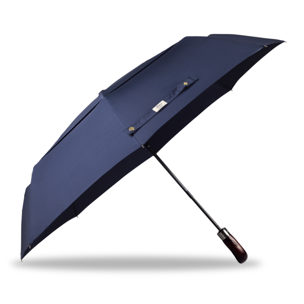 Auto Open & Close Double Canopy Umbrella Navy
